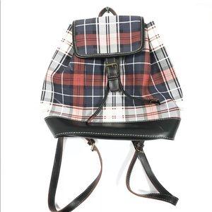 Tommy Hilfiger Multi Color Plaid Backpack Bag